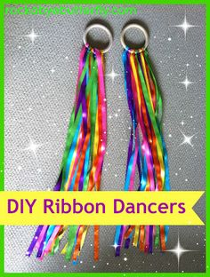 Rockabye Butterfly: Ribbon Dancers, how fun is this for little girls Diy For Kids, Cool Kids, Crafts For Kids, Arts And Crafts, Diy Crafts, Children Crafts, Craft Kids, Kids Fun, Fun Rainy Day Activities