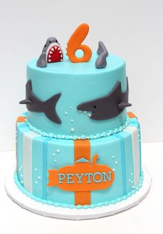 Sharks Cake-I have 2 boys that really wants this for their next birthday!!!!