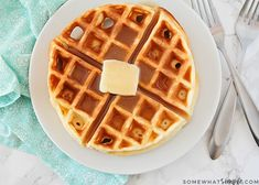 BEST Homemade Belgian Waffles Recipe | Somewhat Simple