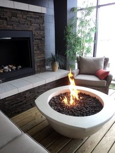 Love this fire pit. Creates cooooozy in the middle of a family room.