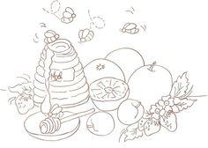 risco+para+pintura+abelhas+mel+e+frutas+1.jpg 1.312×936 pixels