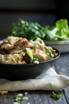 Grilled Chicken Rice Bowl with Bok Choy - Foodness Gracious