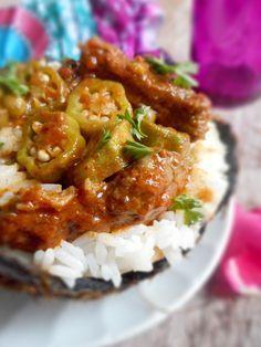 Riz basmathi au bœuf et sauce Gombo parfumée#afrofood#gombo#africanfood#Riz# basmathi#rice