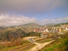 morning in San Giovanni in Fiore . The Train station that I left from hometown from. No longer used
