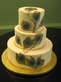 Peacock wedding cake By Chef_Stef on CakeCentral.com