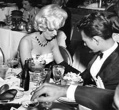 Marilyn with Donald O'Connor at Jimmy McHugh's premiere of Singing Stars at the Cocoanut Grove in the Ambassador Hotel, May 20th 1953.