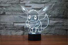 Pokemon Go Eevee 3D LED Night Light - 7 color change