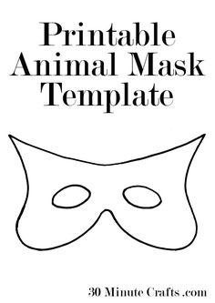 Printable halloween mask templates a superhero mask animal mask printable animal mask templates maxwellsz