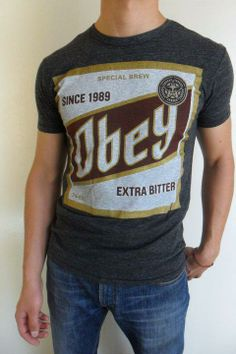 """Camisa gris marca OBEY """"EXTRA BITTER"""""""