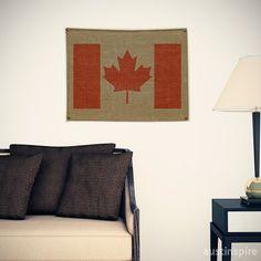 Canada Burlap Flag #wallart #walldecor