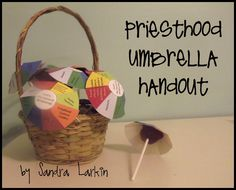 Have the priesthood holder in your family hold up an open umbrella.  Gather the family under it.  Squeeze in tight so everyone fits under the umbrella.  Tell your family that the umbrella is like the priesthood.  When a worthy man holds it, his whole family is protected by that special gift from Heavenly Father.