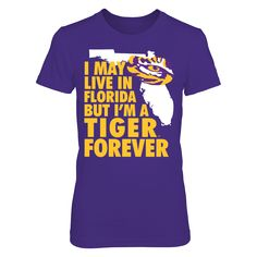 LSU Tigers - Out of State Florida T-Shirt, LSU Tigers Official Apparel - this licensed gear is the perfect clothing for fans. Makes a fun gift!  The LSU Tigers Collection, OFFICIAL MERCHANDISE  Available Products:          District Women's Premium T-Shirt - $29.95 District Men's Premium T-Shirt - $27.95 Gildan Unisex Pullover Hoodie - $44.95 Gildan Long-Sleeve T-Shirt - $33.95 Gildan Fleece Crew - $39.95 Next Level Women's Premium Racerback Tank - $29.95       . Buy now…