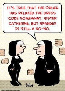 TOONPOOL Cartoons - nuns spandex dress code by rmay, tagged nuns, spandex, dress, code - Category Religion - rated /