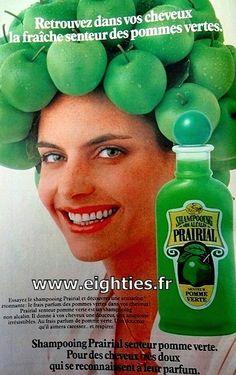shampoing prairial aux pommes vertes c'était super ^^   un souvenir d'enfance ce shampooing!! cette odeur de pomme  verte !!