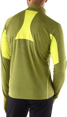 Easily fends off trail chill—Men's REI Lightweight Fleet Quarter-Zip Shirt.