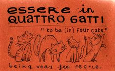 To be in four cats (being very few people) ~ Essere in quattro gatti