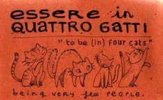 Learning Italian Language ~ Essere in quattro gatti
