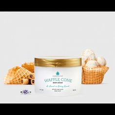 NEW!! Waffle Cone Body Scrub Available 4/27/16 @2pm CST! Boardwalk collection!   A delicate mix of sweet sugar and buttercream frosting accented with notes of creamy vanilla for an irresistible and playful aroma!  Please do not eat lol if you're interested in purchasing this product please use the link located in my bio! Ring sizes 5-10!❤️ Jewelry Rings