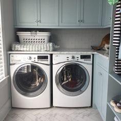 Coastal Laundry Room