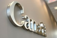 art signs office signage 3d metal sign installed in corporate office of Health agency Canada
