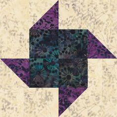 Paper Pinwheels Quilt Block Pattern