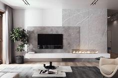 White House Interior, Interior Design Living Room, Living Room Designs, Living Room Wall Units, Tv Wall Design, Interiores Design, Adobe Photoshop, Interior Architecture, Behance