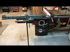 Saw Stop Sliding Table - YouTube Sliding Table Saw, Serra Circular, Radial Arm Saw, Industrial Shop, Local Hardware Store, Plywood Sheets, Woodworking Tools, Sliders, Youtube