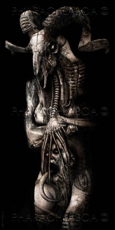 Art Print H.R. Giger Inspired Biomechanical Disturbing Demon by PharaohsDreamMuseum on Etsy