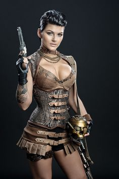 Steampunk outfit Corset/ Collar/ Leather by MeschantesCorsetry, $688.00