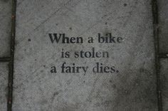 when a bike is stolen