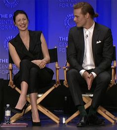 Cait and Sam doing an interview