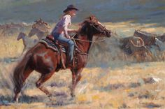 Girl Riding Horse Canvas Prints in lowest price only at canvaschamp.com Cheap Canvas Prints, Canvas Art, Western Art, Western Cowboy, Cowboy Art, True Art, Cowboys, Westerns, Sketches