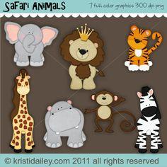 Safari Animals Vol 1 Color Graphics
