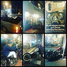 【tsuruta55】さんのInstagramをピンしています。 《今日は夜突然、森タンクに拉致られてチェリーズカンパニーさんへやってきました~! どうやらバイクをショベル→?へステップアップさせるらしいです。  楽しみ楽しみ~!! #cherryscompany #練馬 #関町 #harleydavidson #motorcycle #vintage #shovelhead #panhead  #nomad #nomadclothing #boss #datsun #datsuntruck #d21  #チェリーズカンパニー #バイク屋さん #カスタム #リペア  #森 #フォレストバイク #森タンク #りえちゃん明日bd #おめでとう #りえと進一にそろそろ会いたい #猫にも行きたい #小田原 #モーリーのバイクなんだかんだ今日初めて見た #スタイル先輩のももう完成間近かな #楽しみ楽しみ》