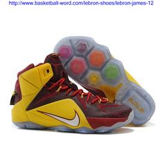 a6e18d3beeda Now Buy Christmas Deals Nike LeBron 12 New Shoe Burgundy Gold Save Up From  Outlet Store at Footseek.