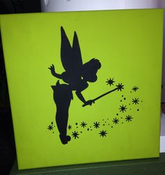 Disney crafting: Tinkerbell silhouette