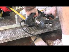 How to cut granite slab kitchen counters with a circular saw and a diamond turbo rim blade. In this video I cut my granite kitchen counter to length with a s.