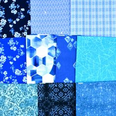 A pack of 10 half yards of beautiful blues from Andover, Blend, Windham, Kanvas and more   Buy this Stash Builder at it special price through 6/11 and get Free Shipping!  Limited quantities are available Yards, Blues, Packing, Quilts, Free Shipping, Sewing, Fabric, Beautiful, Bag Packaging