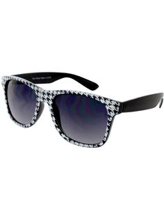 One Pair of Houndstooth Sunglasses #IN3057-R - Wholesale Accessory Market