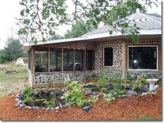 this is style of our writing studio/art studio.  cordwood is cheap, easy and just gorgeous.