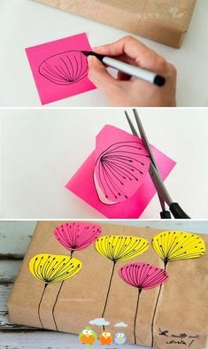 DIY Gift Wrapping diy craft crafts how to tutorial diy gifts craft gifts Diy And Crafts, Arts And Crafts, Kids Crafts, Book Crafts, Craft Projects, Projects To Try, Ideias Diy, Gift Packaging, Packaging Ideas