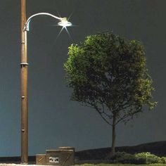 Woodland Scenics Just Plug O Scale Wooden Pole Street Lights, Pkg. of 2