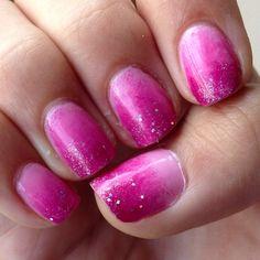 Essie pink gradient nails