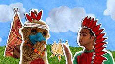 Hoela en Hoep zingen een liedje over indianen. In de animatie zien we Hoela varen in een kano, Hoep schiet met pijl en boog veren uit de tooi van Hoela. Kijk je mee?