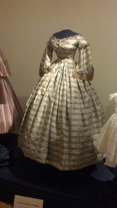~1860s gown from the Susan Green Historic Clothing Collection at the John L Wehle  Gallery~