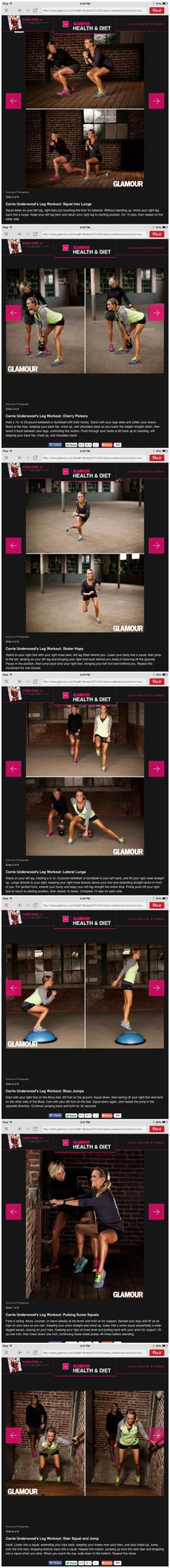 Carrie underwood leg workout!!