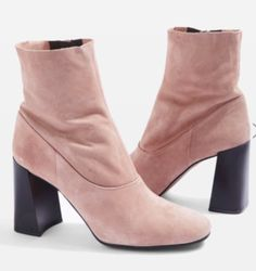 Topshop HOLI Leather Sock Boots