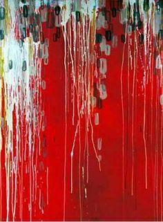 1000 images about peintures abstraites rouges on - Peinture rouge et blanc ...