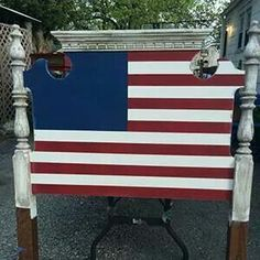 Made With Rough Cut Lumber Rustic American Flag