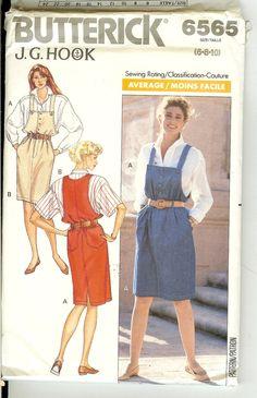 Top Jumper Blouse  Misses Size 6 8 10  Butterick 6565 Sewing Pattern J G Hook  1980s Uncut. $5.00, via Etsy.